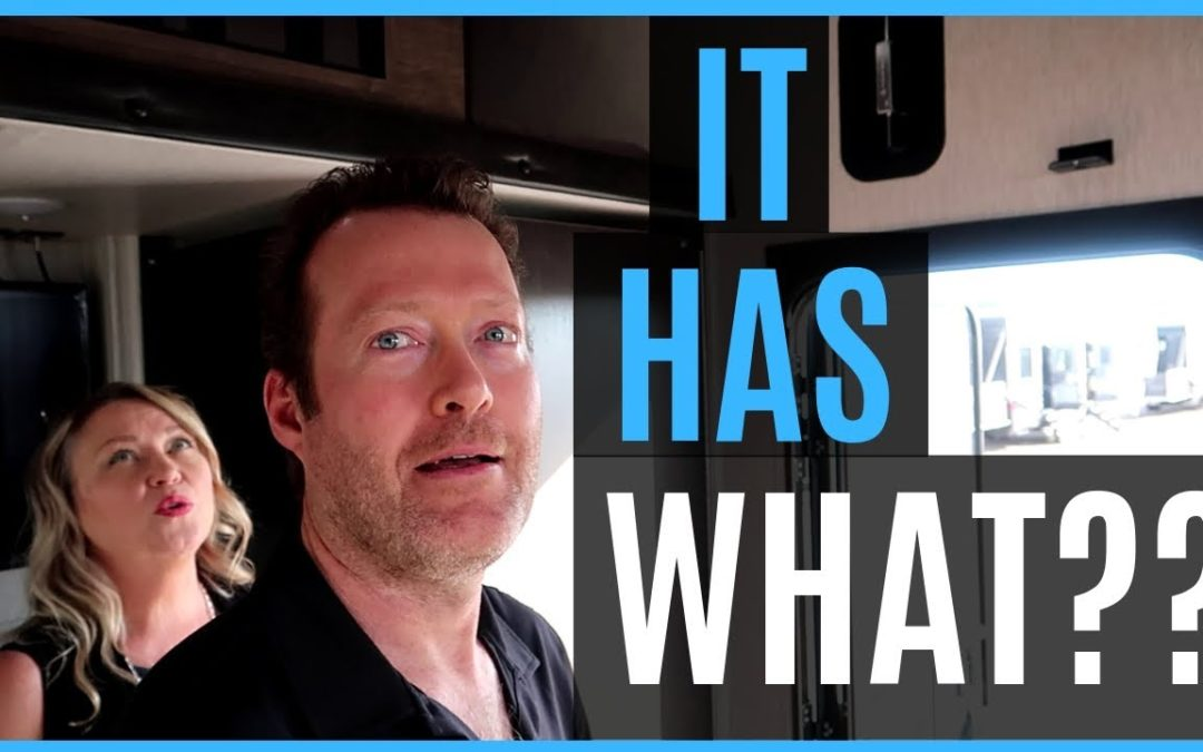 WE HAVE NEVER SEEN THIS BEFORE IN AN RV! TOY HAULER TOURS (RV LIVING)